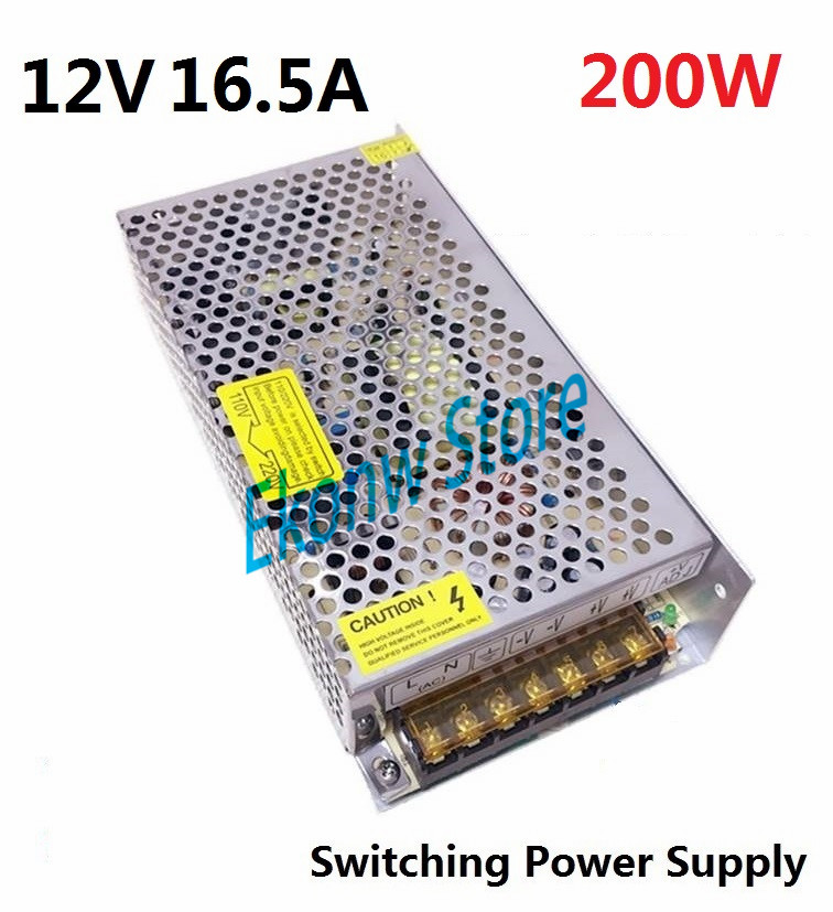 200W 12V 16A Switching Power Supply Factory Outlet SMPS Driver AC110-220V DC12V Transformer for LED Strip Light Module Display 6es7284 3bd23 0xb0 em 284 3bd23 0xb0 cpu284 3r ac dc rly compatible simatic s7 200 plc module fast shipping