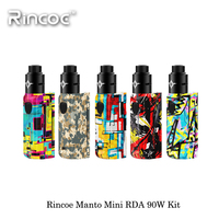 Electronic Cigarette Rincoe Manto Mini RDA 90W Kit Vape Single 18650 Battery Small Size Full Battery Output PC Material Ecig Kit