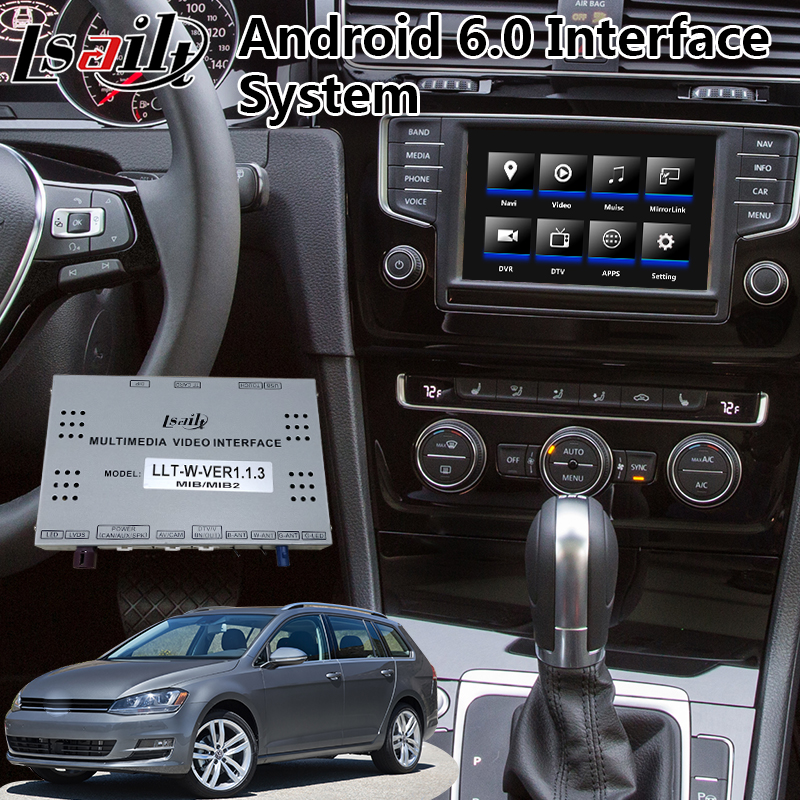 Android 6 0 Video Interface for Volkswagen Golf 7 / Seat Leon / tiguan /  polo , GPS Navigation for 2014-2017 Year Cars mib2