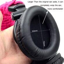 อัพเกรดหนังเทียมเบาะหูแผ่นปลอกหมอนสำหรับsony mdr 7509hd v600 v900 hd z600หูฟังดีเจ