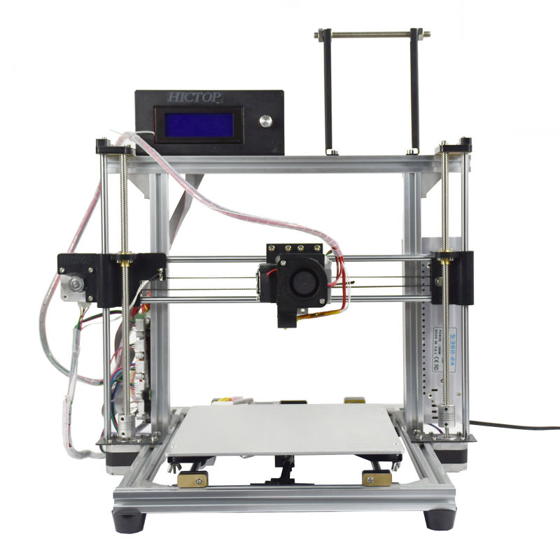 HIC 100% Brand New Auto Leveling 3d printer can print 10 materials with Aluminum Frame (white Aluminum)