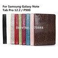Крокодил зерна кожаный чехол капа пункт для Samsung Galaxy примечание и Tab Pro 12.2 / P900 + ручка в подарок