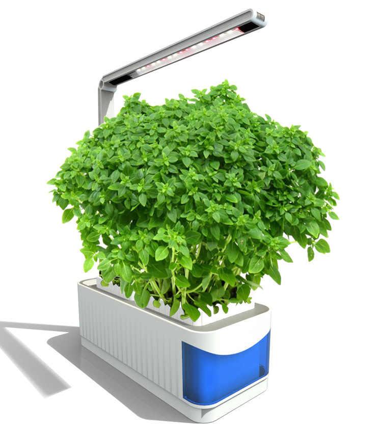 Erva inteligente Kit Jardim Cresce A Luz LED Hidropônico Crescer Lâmpada De Mesa Multifuncional Jardim Flor Plantas Hidroponia Grow Tent Box