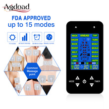 EMS Tens Machine Unit Electric Massager Pulse Muscle Stimulator Electrode Pads Digital Therapy Pain Relief Machine 15 Modes Tens tens body massager 16modes digital therapy machine muscle stimulator 1pair hands care conductive electrode fiber silve gloves
