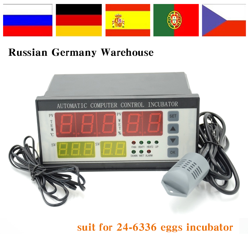 Xm-18 Egg Incubator Controller Thermostat Hygrostat Full Automatic  Control With Temperature Humidity Sensor Probe