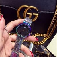 2016 New Arrival Women Watch Luxury Fashion Crystal Women Bracelet Watch Female Dress Watch Ladies Rhinestone