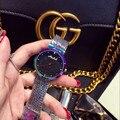 2019 nova chegada relógio feminino! moda de luxo cristal feminino pulseira relógio feminino vestido senhoras strass relógios de pulso