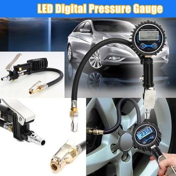Digital Car Truck Tyre Inflation Gun Monitoring Tool Air Tire Pressure Inflator Gauge LCD Display Dial Meter Vehicle Tester