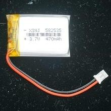 XINJ 3.7 V 470 mAh Li Po polimerowa bateria 582535 2pin JST 2.0mm wtyczka dla GPS nawigacji satelitarnej samochodów DVC kamera jazdy rejestrator MP3/mp4 światła