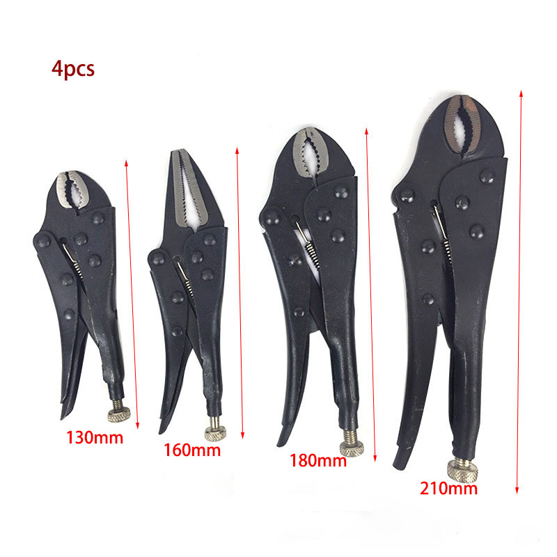 Locking Pliers Gourd Mouth Straight Jaw Lock Mole Plier High Carbon Steel Wear Resistant Vise Grip Clamping Hand Tools 250mm 10 heavy duty alloy curved jaw locking plier mole vise grip wrench clamp en1708