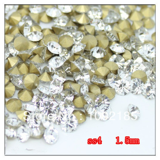 SS4 14400Pieces 100Gross Point Back Rhinestone Crystal Color Point Back Chaton Free Shipping степлер мебельный gross 41001