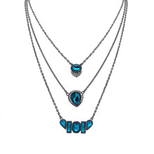 2016 Christmas gift fashion square droplets tassel necklace sweater female snake chain pendant necklace jewelry Corley de woman