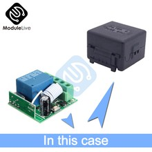 DC 12V 1 Channel 1-CH 433MHz Wireless Relay Module RF Remote Control Switch Heterodyne Receiver Wifi Module With Case(China)