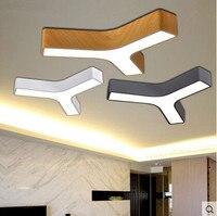 Triângulo acrílico led luzes de teto moderna concisa lâmpada do teto ser livremente combinado luminárias para iluminação doméstica como arandelas parede