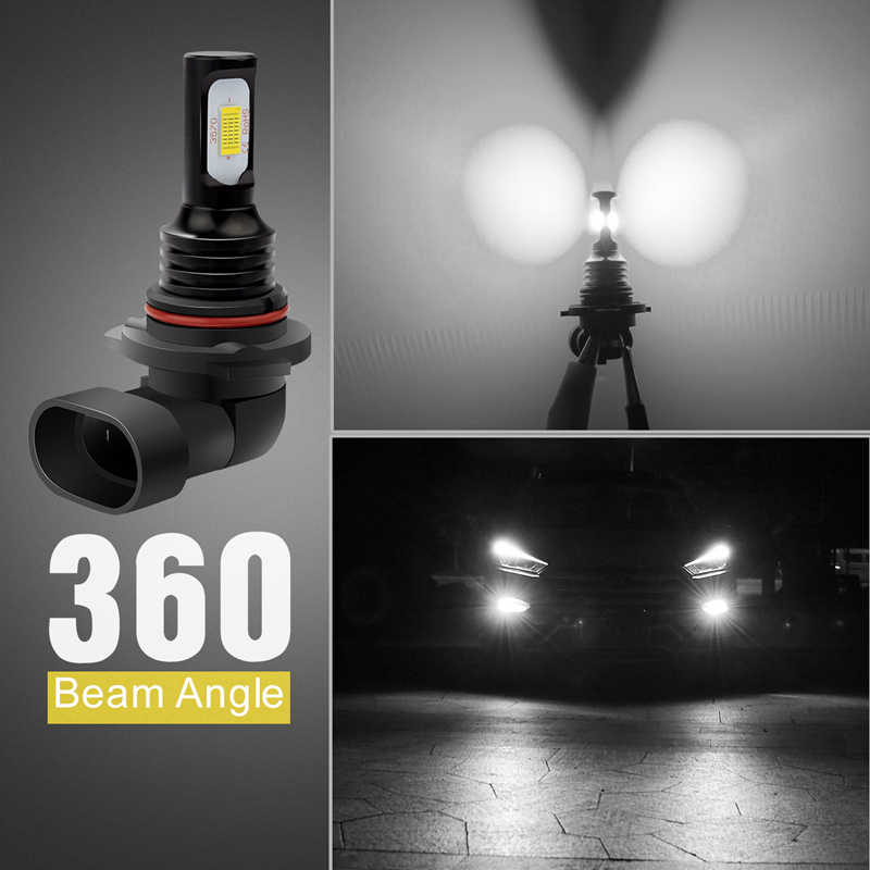 Katur 2pcs Super Bright Canbus 9006 HB4 LED Bulbs Led Driving Running Lights Fog Light Auto Lamp White Gold High Power 3570 CSP