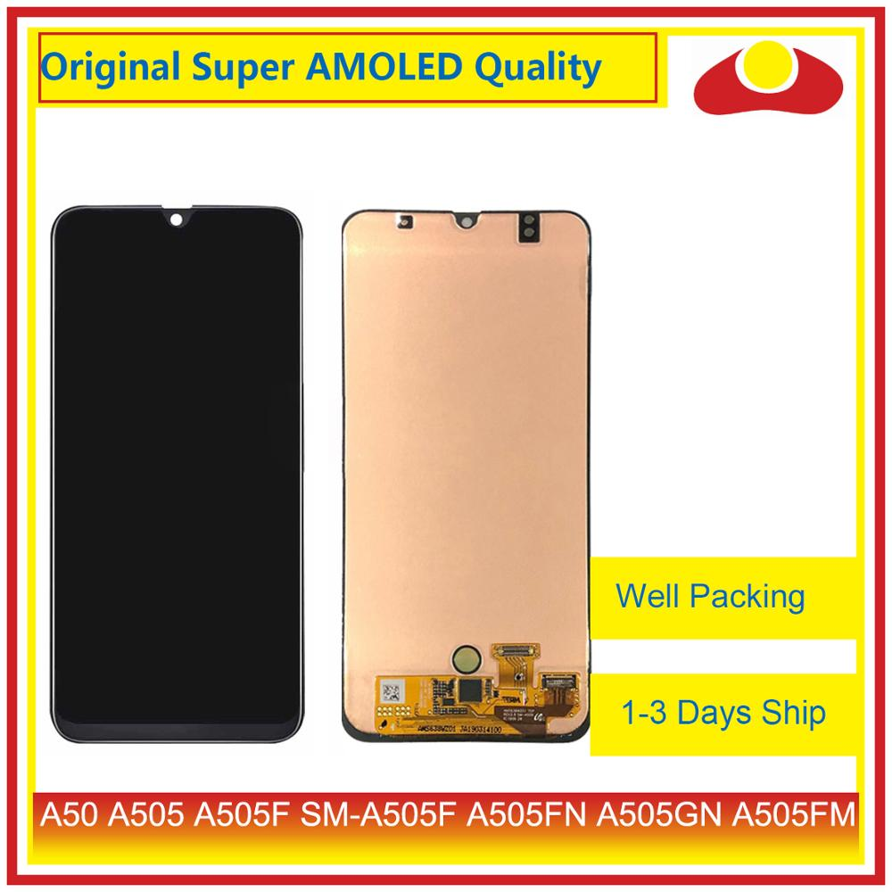 Original For Samsung Galaxy A50 A505 A505F SM A505F LCD Display With Touch Screen Digitizer Panel Pantalla Complete-in Mobile Phone LCD Screens from Cellphones & Telecommunications