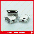 Micro USB 5P,5-pin Micro USB Jack,5Pins Micro USB Connector Tail Charging socket for Samsung Nokia 8600