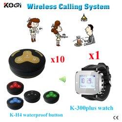 Ycall 4 przycisk bezprzewodowy nadajników i zegarek odbiornik restauracja sygnał dźwiękowy