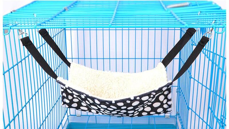 4 цвета, зимний теплый подвесной коврик для кошки, мягкий и удобный гамак для кошки, для питомца, котенка, кровать клетка, чехол, подушка - Цвет: Белый