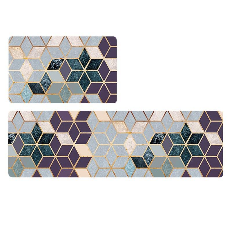 Image 3 - PVC Leather Kitchen Rugs Carpets Set Long Size Sofa Area Rugs Oil  proof Waterproof Living Room Bedside Floor Tatami Mat tapetesRug   -