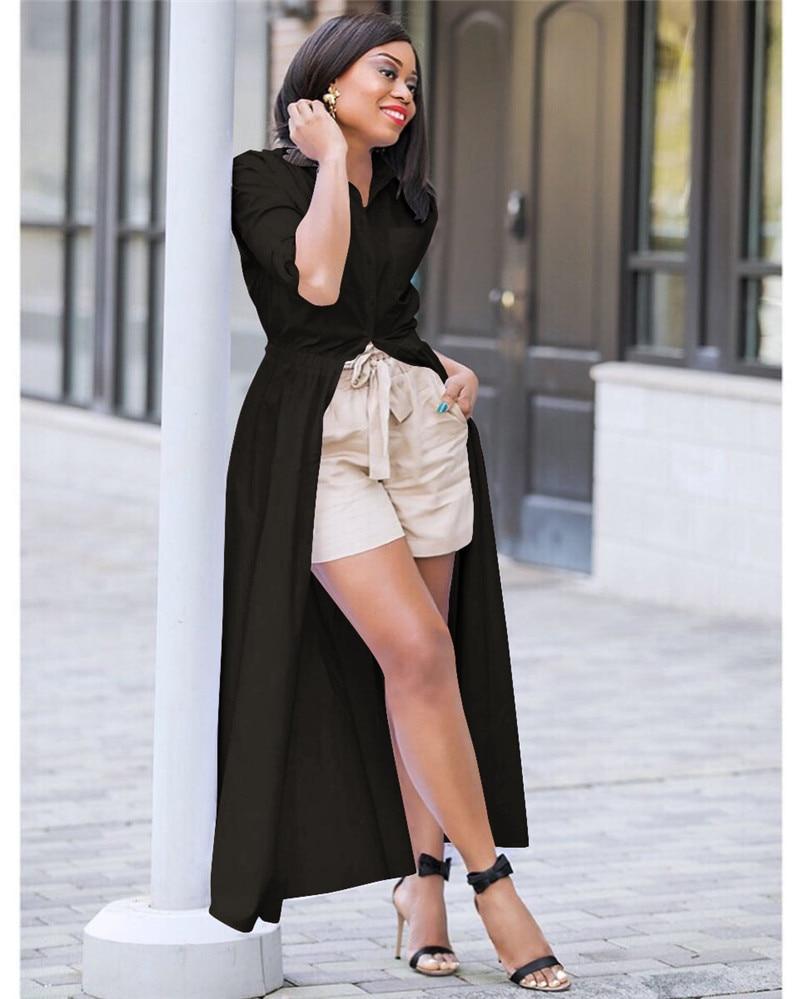 2086d7af2d2 Autumn Long Sleeve White Shirt Dress Women Turn Down Collar Button Down  Oversized Blouse Dress High Waist Maxi Shirt Dress 2018-in Dresses from  Women s ...