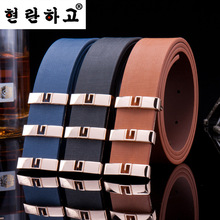 Free shipping 2016 New style Belt Mens Luxury Leather Women Belts For Men Hot Leisure 5Colors High Quality Ceinture Student belt