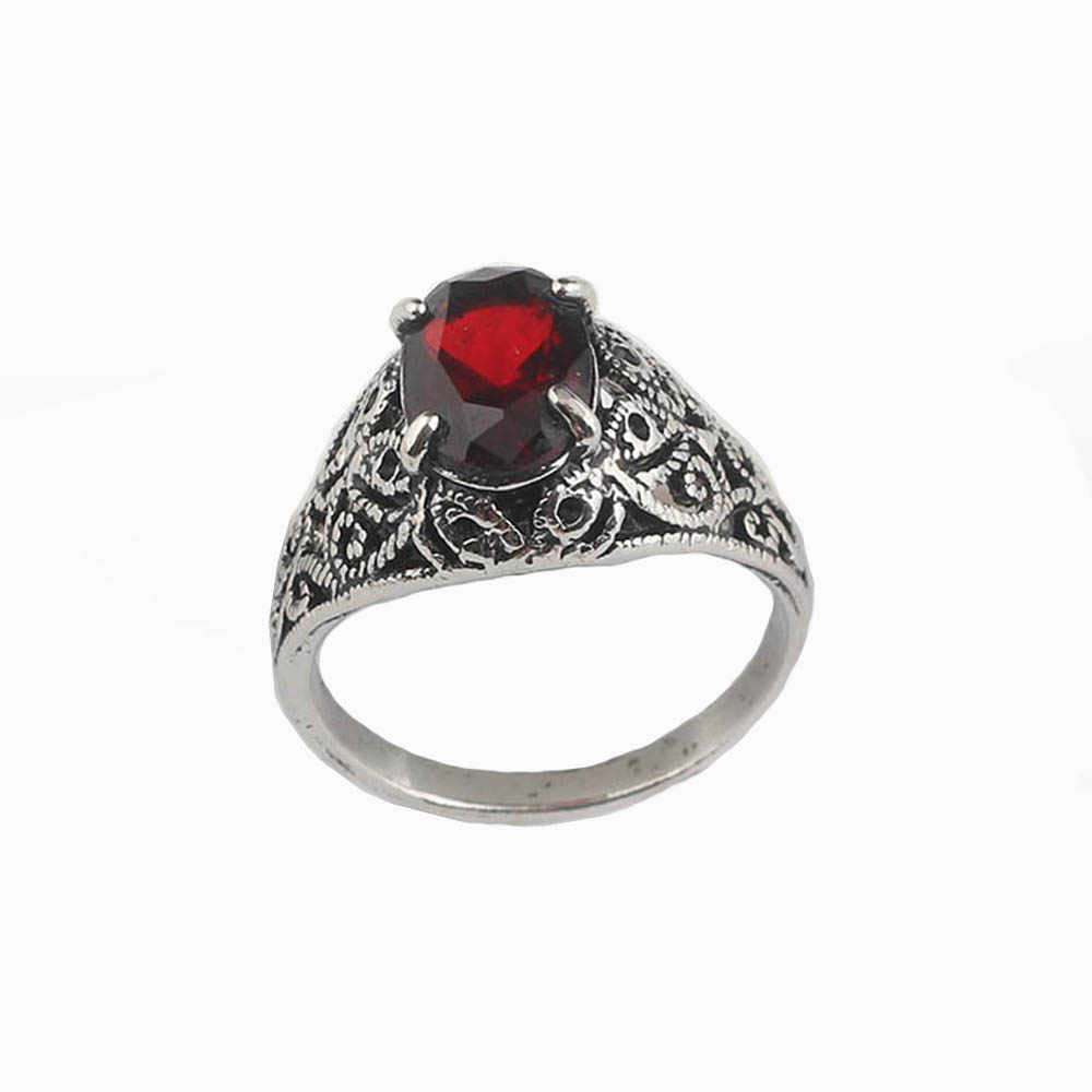 SG New Vintage Game Dark Souls 3 Logo Life Ring High Quality Flower Red Gem  Rings Chloranthy Ring Men Women Cospaly Jewelry Gift