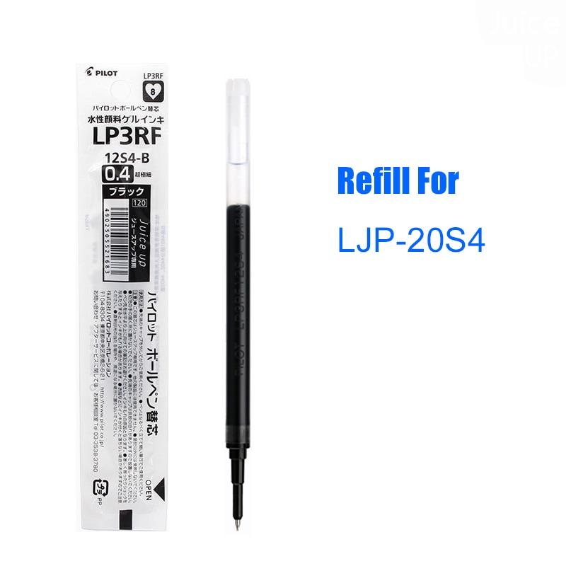 LifeMaster Pilot Gel Refill 0.4 mm For Juice Up 5pcs/lot Super Smooth Needle Tip Student and Office Pen LP3RF12S4 japan pilot hi tecpoint v5rt gel pen test pen tip 4 color 5pcs