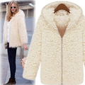 2017 new women Faux fur coat with hat Fashion Long style long sleeve Zipper fur coat women elegant fur coat jacket SS57