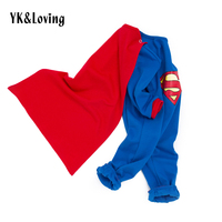 Children Baby Superman Costume Boy And Girl Rompers Super Hero Fan Clothing Cosplay Kid Party Holiday
