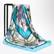 2018 Summer Head Silk Scarf Women Luxury Designer Tassel Print Bandana Vintage Satin Square Muslim Hijab Scarves Bohemian Shawls