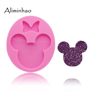 DY0075 Shiny 1.57/1.96 inches Mouse Bow silicone mold cake decorating tools resin gumpaste Fondant Sugar Craft Molds DIY Cake(China)