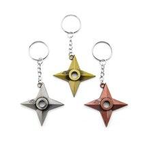 New Fashion Naruto Keychain Dart Weapon Konoha Logo Uzumaki Keyring Key Chain Ring Ninja Anime Jewelry Gift