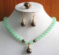 المرأة مجوهرات الزفاف أفضل هدية مجموعة الجملة سعر المصنع شبه الكريمة جوهرة الحجر قلادة القرط خاتم الفضة مجوهرات