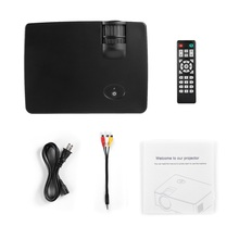 LCD Mini Projector 1500 LM 1080P Full HD 800 * 480 Video Home Cinema IR Remote Control Wired The Same Screen Japanese 2 Colors