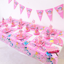 151PCS Set Little Pony Theme Plates Cups Baby Shower Tablecloth Banner Napkins Flags Decorate Favors Birthday Party Masks Straws