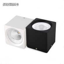 Surface Mounted Ceiling Downlight Dimmable 7W 10W 15W 85-265V lamp COB Led downlights Ceiling Spot light With led driver все цены