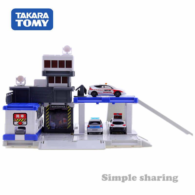 TAKARA TOMY Tomica Town Central Polisi Blok Bangunan Diecast Miniatur Mainan Bayi Model Kit Hot Pop Anak-anak Boneka