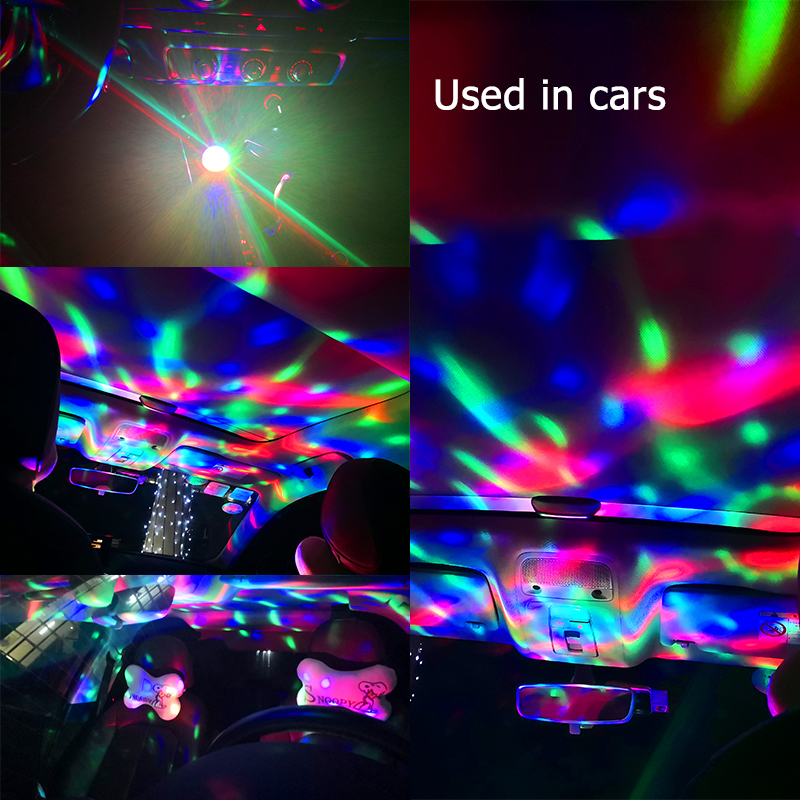 Image 3 - CNSUNNYLIGHT LED Car USB Atmosphere Light DJ RGB Mini Colorful Music Sound Lamp USB C Phone Surface for Festival Party Karaoke-in Decorative Lamp from Automobiles & Motorcycles