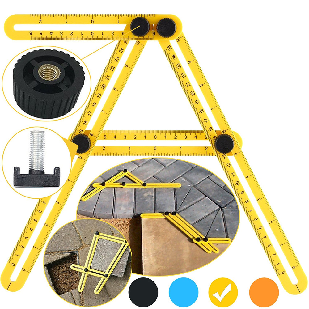 Angleizer Template Tool Multi Angle Measuring Ruler - Tool Angle Izer Layout - Angles & Shapes Finder With Metal Screw Threads