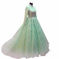 Zyllgf бальное платье арабский нарядные платья для свадьбы длинный Тюль мусульманской невесты платья одежда с длинным рукавом ND3