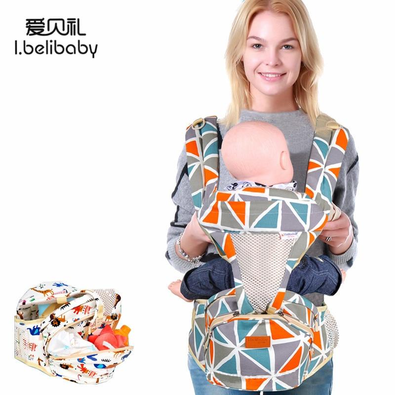 Ibelibaby Baby Carriers Organic Cotton Sling For Newborns Breathable Baby Carrier Wrap Anti-slip Storage Baby Kangaroo Bag