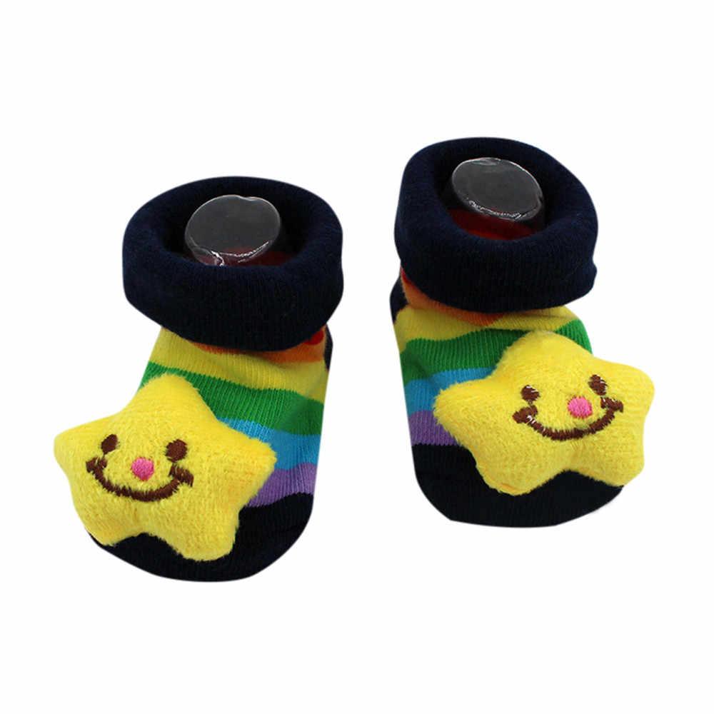 Bebê recém-nascido dos desenhos animados meninas meninos antiderrapante meias chinelo boot bebê meninas meias recém-nascido macio bonito coelho bebê meias s (0-12 m)