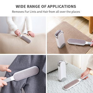 Image 5 - Pet Hair Remover Brush Reusable Double Side Dog Hair Lint Remover Brush Portable Magic Fur & Dust  Cleaning Furniture Pet Brush