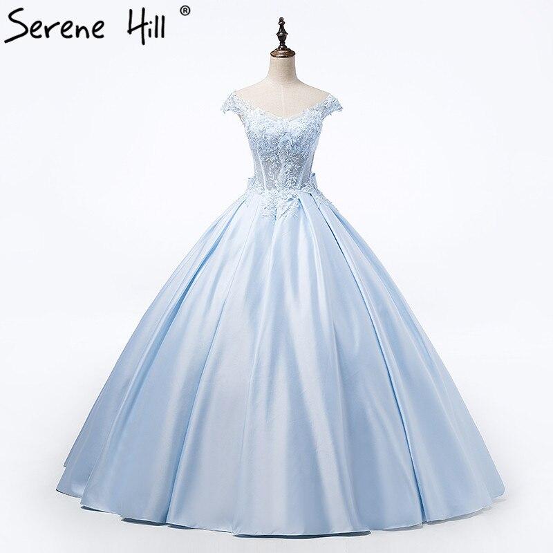 Vestiti Da Sposa Tiffany.Vendita Calda Blu Del Raso Di Appliques Abito Da Sposa Tiffany Blu
