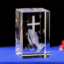 DIY 8CM Rectangular Crystal Miniatures Crystal Cross 3D Laser Engraved Quartz Glass for Lovers Gifts Home Decor Gifts все цены