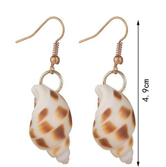 Natural shellfish snail beach shaped women's Earring conch shells jewelry Brincos Ohrringe Phone Earrings
