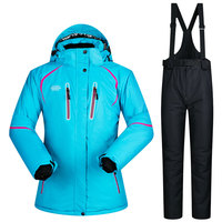 2017 New Winter Ski Suit Women Sets Windproof Breathable Waterproof Women Snow Jacket And Pants Warm