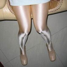 Kadın seksi yağ Parlak Kapalı Kasık 100D külotlu seksi çorap hortum Dans Spor Tayt seksi iç çamaşırı