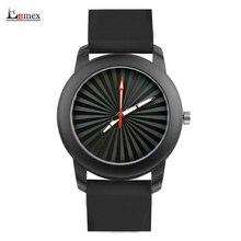 Enmex regalo creativo estilo de señora reloj Estéreo solar patrón de diseño creativo de silicona banda Luminosa breve reloj de cuarzo ocasional